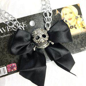 Leg Avenue Skull & Crossbones Pirate Necklace NOS